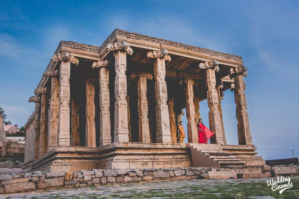 post-wedding photography at Hampi